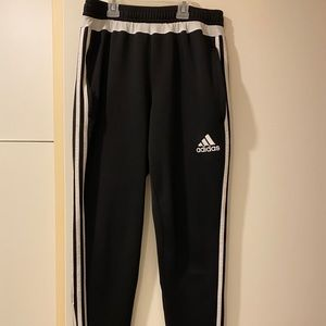 """Stripped Adidas """"Climacool"""" sports pants."""